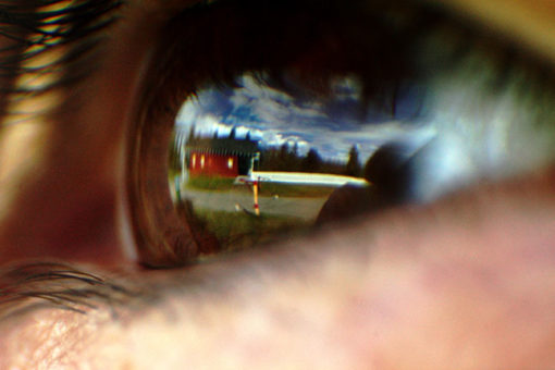 Look into my eyes - photo in a lense
